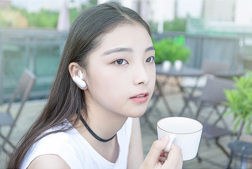 QCY Q12 Mini Invisible Bluetooth Earphone Wireless Single Earbuds with Mic- Purple