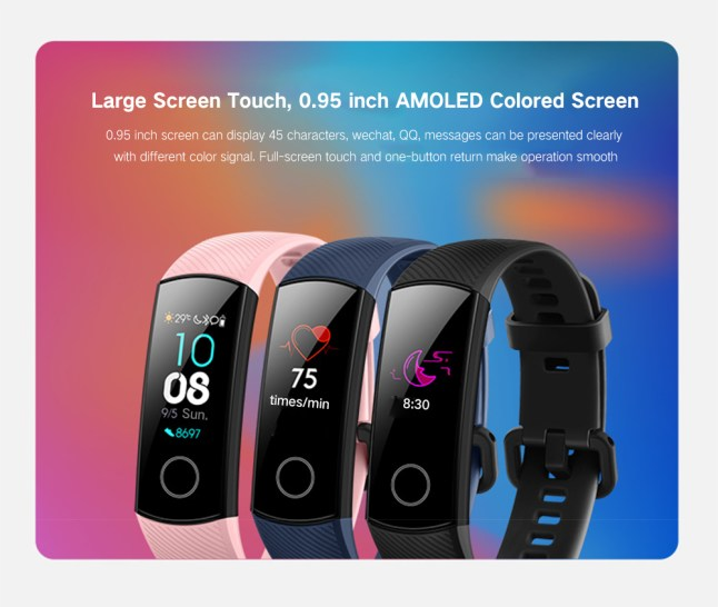 0.95 inch Screen Bluetooth 4.0 Call / Message Reminder Heart Rate Monitor Blood Pressure Functions-Black