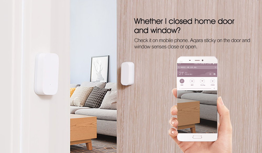 Aqara Smart Window Door Sensor Intelligent Home Security Equipment with ZigBee Wireless Connection ( Xiaomi Ecosystem Product )- Milk white