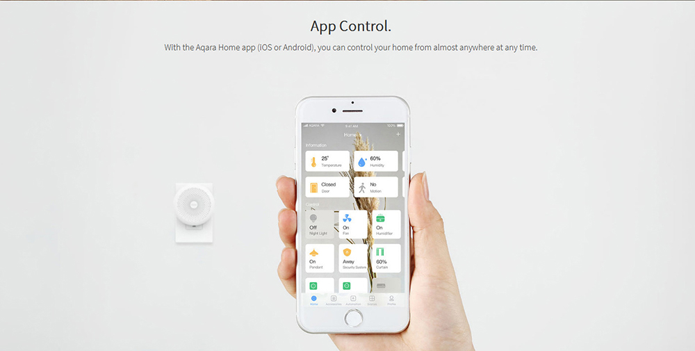 AQara ZHWG11LM WiFi Wireless Zigbee Smart Gateway pour la domotique Version HOMEKIT - Blanc