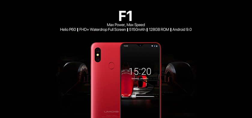 UMIDIGI F1 4G Phablet 6.3 inch Android 9.0 Helio P60 Octa Core 2.0GHz 4GB RAM 128GB ROM 16.0MP Front Camera Fingerprint Sensor 5150mAh Built-in Other Area- Gold Other Area