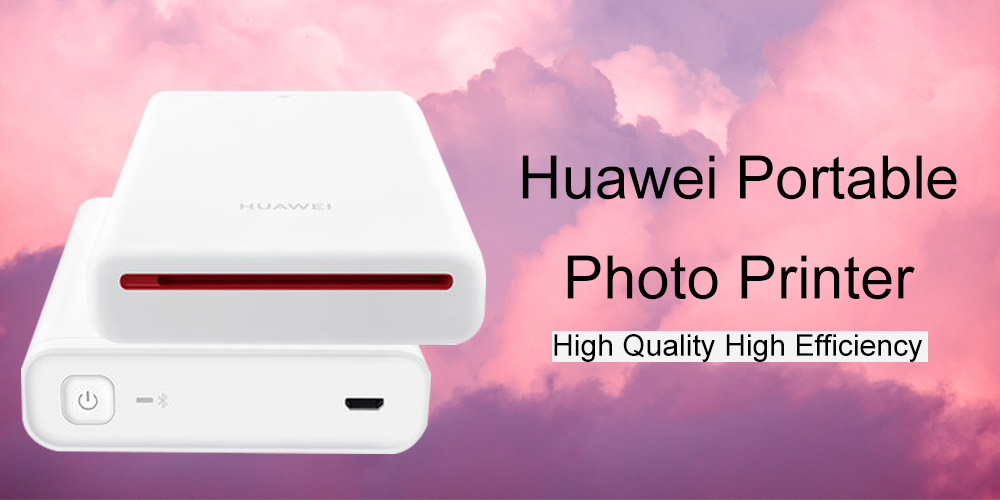 AR Imprimante d'origine Huawei Photo Portable Mini Pocket Imprimante- Blanc