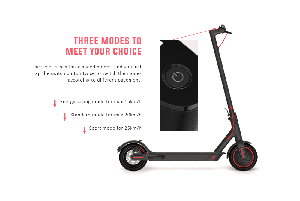 Xiaomi Electric Scooter Pro 12.8Ah Battery / 8.5 inch Two Wheels - Black