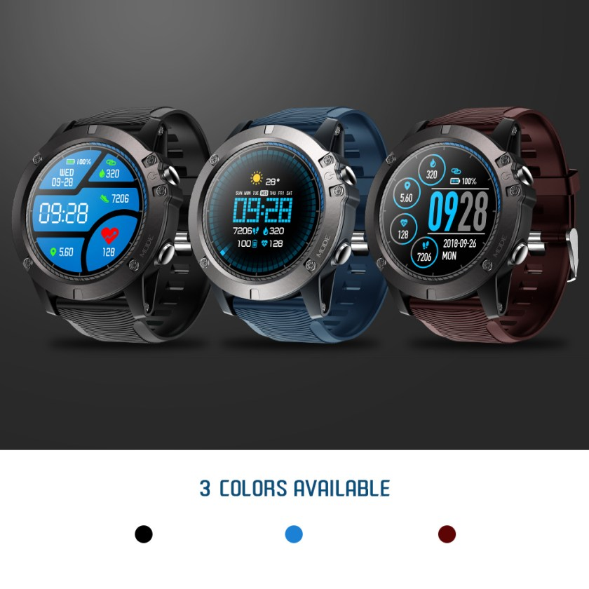 Zeblaze VIBE 3 PRO Touch Display Exercise Tracking Smart Watch - Chestnut