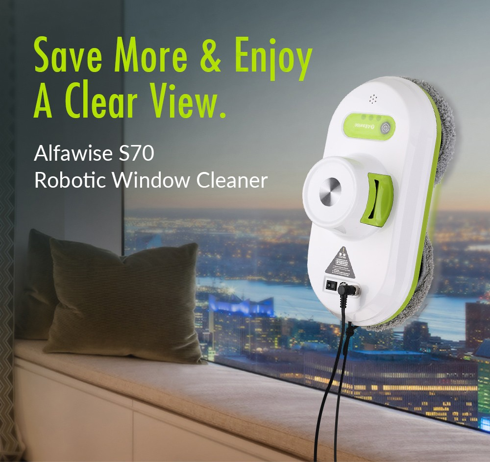 Alfawise S70 Window Cleaning Cleaner Robot- White