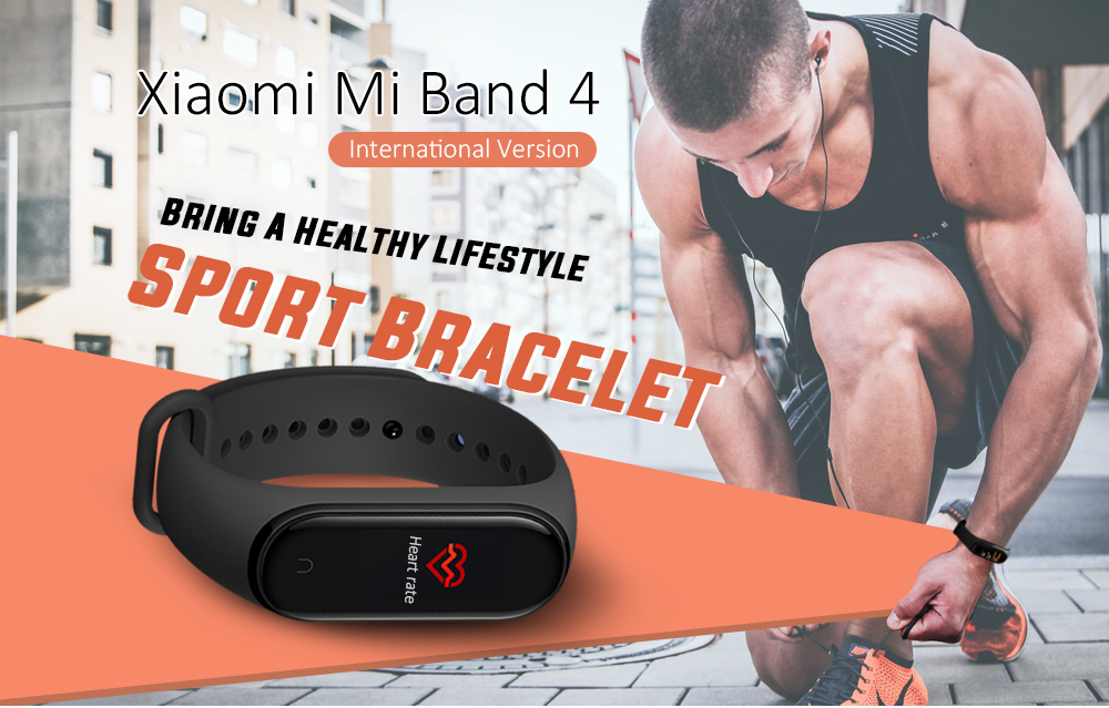 Xiaomi Mi Band 4 Smart Bracelet Bluetooth 5.0 5ATM Waterproof Sports Smartwatch - Black