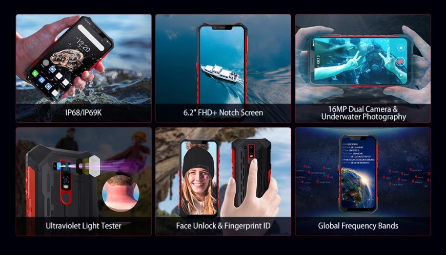 Ulefone Armor 6S 4G Phablet 6GB RAM 128GB ROM - Red Other Area