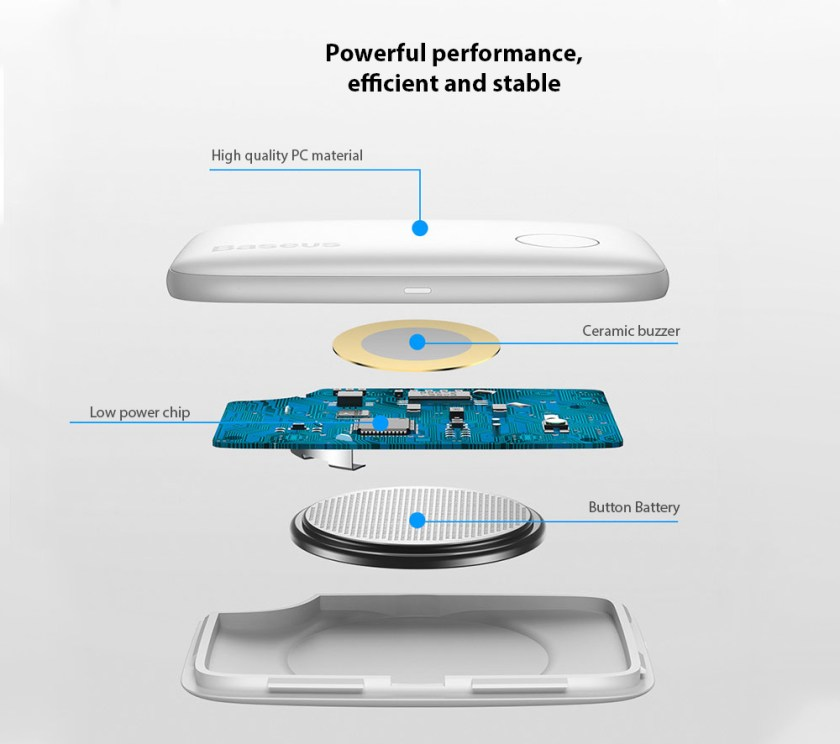 Baseus Wireless Smart Tracker Powerful performance, efficient and stable
