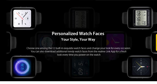 OPPO Realme Watches Smart Watch Personalized Watch Faces