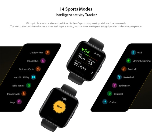 OPPO Realme Watches Smart Watch 14 Sports Modes