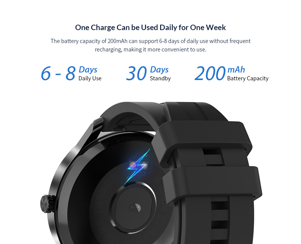 Kospet MAGIC 2S 1.3 inch Smart Watch Battery Life