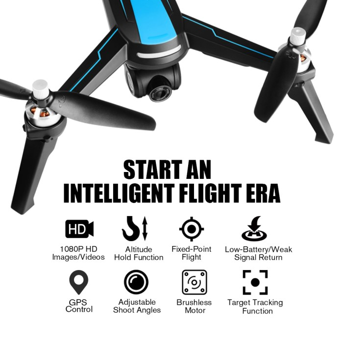 helifar B3 5G-WiFi FPV Brushless RC Quadcopter with Double Batteries- Black