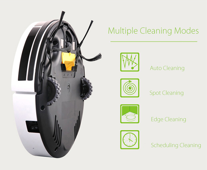 ILIFE V1 intelligent Robotic Aspirateur sec humide Mopping Balayer alarme vocale