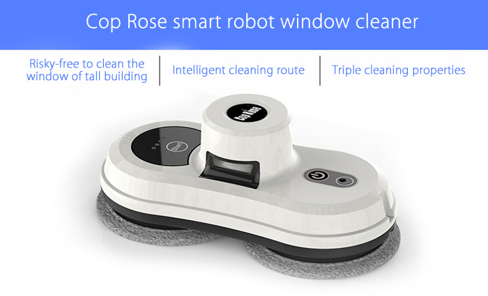 Cop Rose Smart Robotic Vacuum Window Cleaner for Home Office