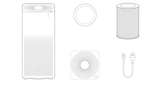 Original Xiaomi Smart Mi Air Purifier Mini Second Generation Oxygen Bacteria Virus Smell Cleaner Smartphone Remote Control