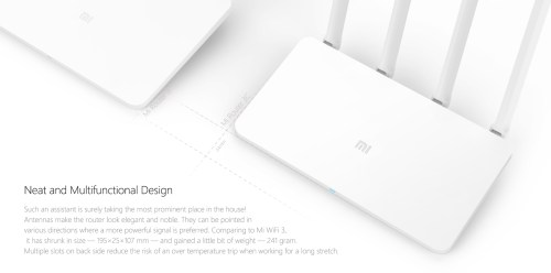 Original Xiaomi Mi 300Mbps 2.4GHz WiFi Router 3C Signal Booster with 4 Antenna Chinese Version