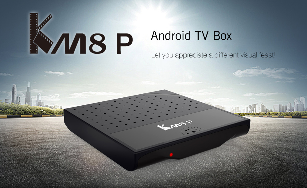 Mecool KM8 P TV Box Amlogic S912 Octa Core CPU Android 6.0 avec KODI 17,0
