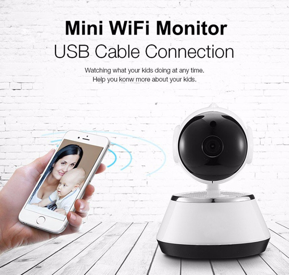 Puce WiFi IP Home Security Camera 720P Night Vision de détection de mouvement