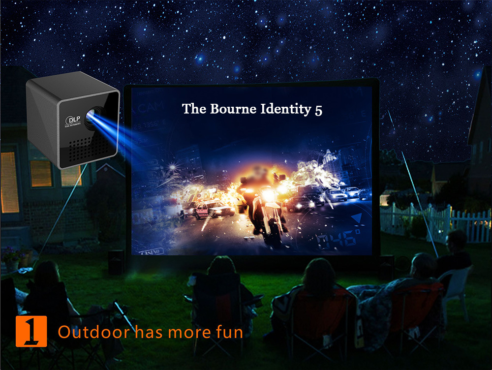 UNIC P1+ LED Portable 30 Lumens HDMI DLP Home Movie Theater Projector