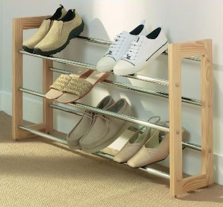 Store Extendable 3 Tier Shoe Rack