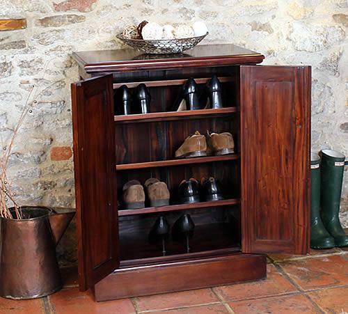 Mahogany Shoe Storage Cabinet La Roque Baumhaus Shoe