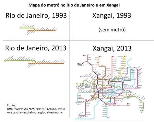 Mapa dos metrô