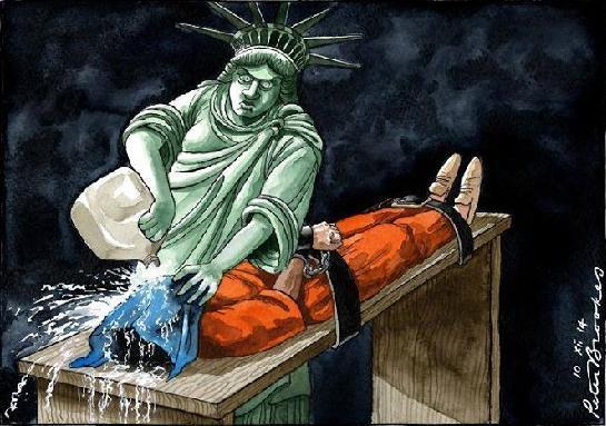 Tortura-estátua da liberdade