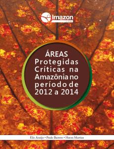 Capa Áreas Protegidas críticas na Amazônia