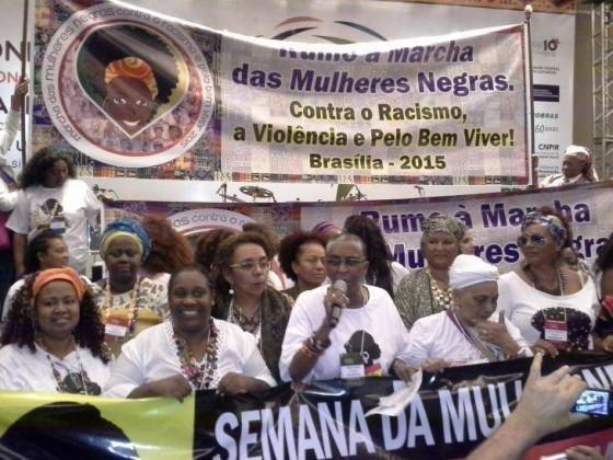 Marcha Mulheres Negras contra el racismo