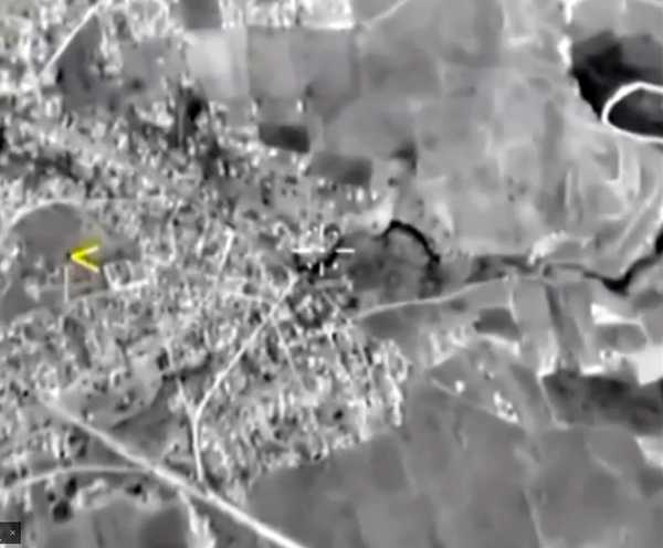 epa04958808 A handout frame grab taken from a video footage made available on the official website of the Russian Defence Ministry on 01 October 2015 showing Russian warplane locating a target in the Syrian territories. According to the Russian Defence Ministry, Russian warplanes located at the Syrian Hmeymim airbase performed 8 sorties overnight to carry out strikes coordinated with the Command of the Syrian Army against four facilities of the international terrorist organization so-called Islamic State (IS) in Syria. EPA/RUSSIAN DEFENCE MINISTRY/HANDOUT BEST QUALITY AVAILABLE HANDOUT EDITORIAL USE ONLY/NO SALES