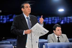 Plenário do Senado Federal durante sessão deliberativa ordinária. Em pronunciamento, senador Jader Barbalho (PMDB-PA). Foto: Waldemir Barreto/Agência Senado