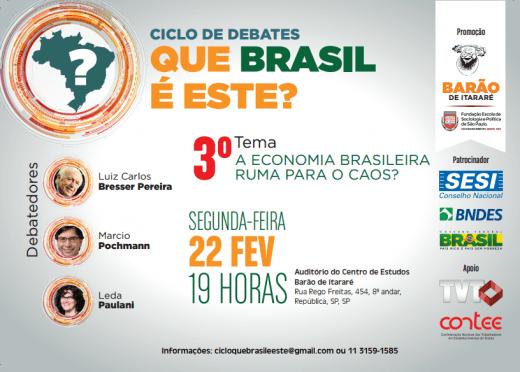 A economia brasileira ruma para o caos?