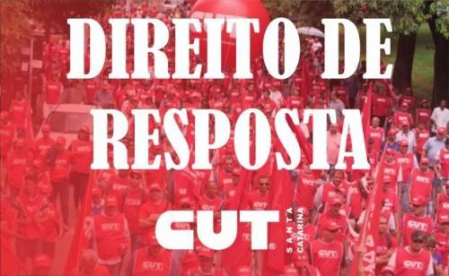 CUT-SC conquista direito de resposta no Jornal da TV Ric Record