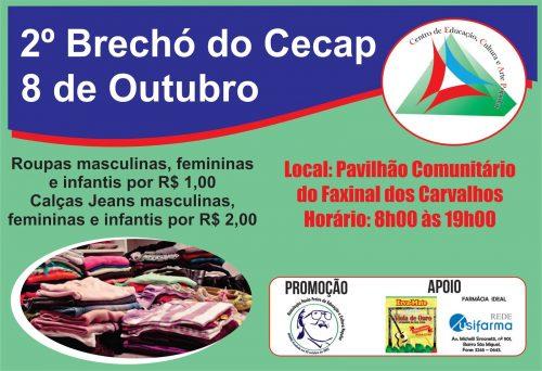 2º Brechó do Cecap acontece em outubro no Faxinal dos Carvalhos