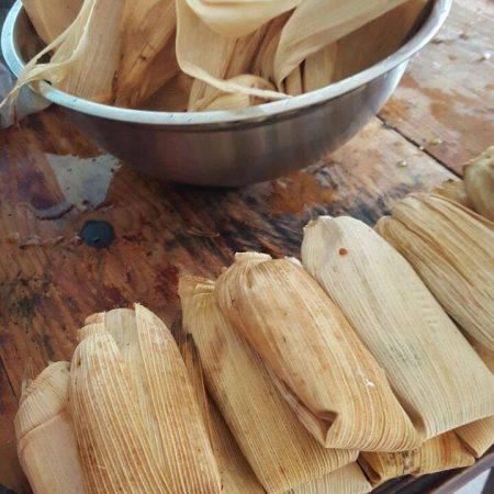 Tamales. Empanadas de massa de farinha de milho. Foto: Ana Rosa Moreno