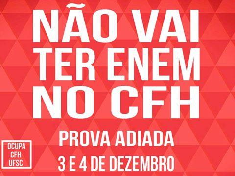 Não vai ter Enem no CFH-UFSC
