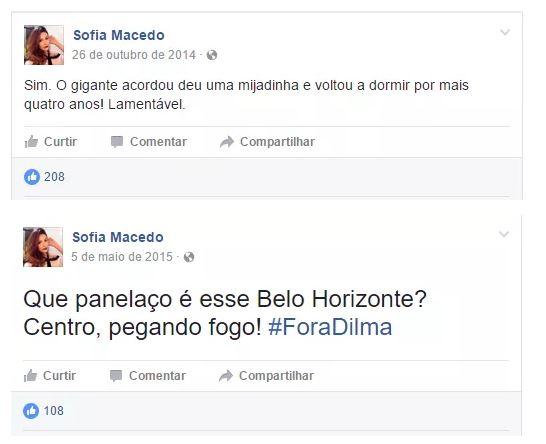 """Estudante suspeita de contratar quadrilha pra fraudar o ENEM pediu """"Fora, Dilma"""" no Facebook"""