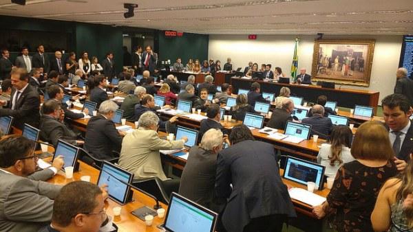 Comissão de Constituição e Justiça (CCJ) da Câmara Federal nesta quarta (14) / Cristiane Sampaio/Brasil de Fato