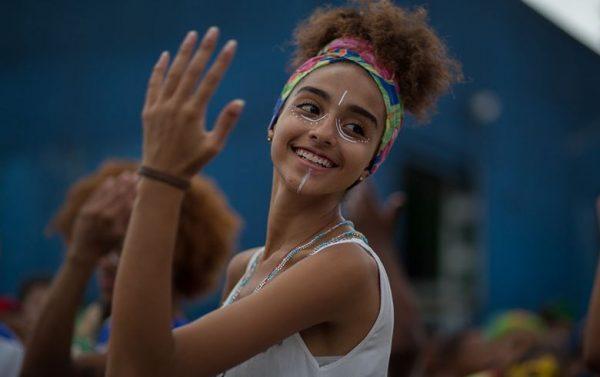 É tempo de festa no Bloco Afro Di Santo, no M'Boi Mirim, zona sul de São Paulo