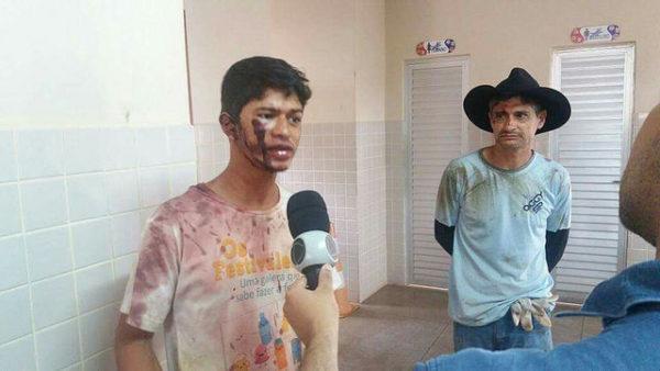 Thiago Santos, 23 anos, filho do produtor rural, agredido pelos seguranças da Vale S/A (Foto: Reprodução)