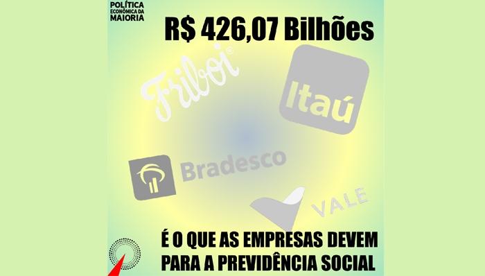 Desmonte da Previdência ignora R$426 bi devidos por empresas ao INSS