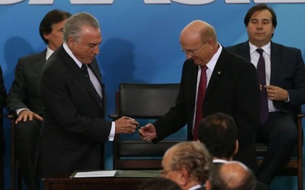 Michel Temer e Osmar Serraglio, ministro da Justiça | Agência Brasil
