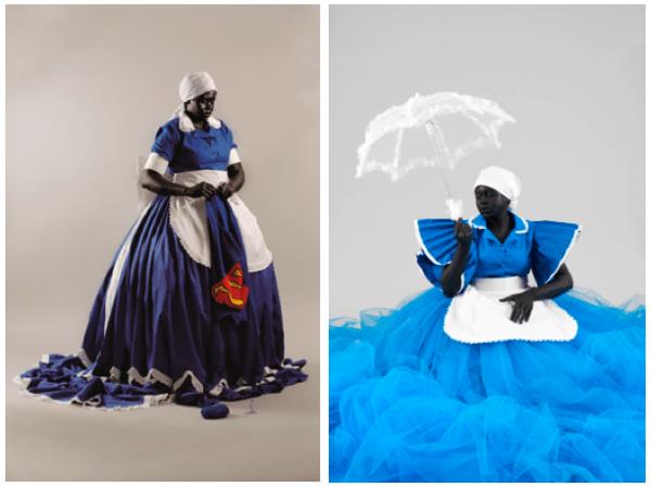 A emancipação da trabalhadora doméstica segundo a artista Mary Sibande. Fonte: The Guardian