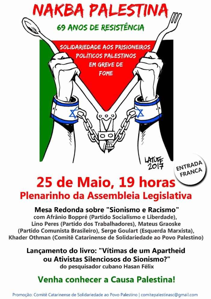 Nakba Palestina: 69 anos de invasão do Estado de Israel sobre o Solo Pátrio Palestino