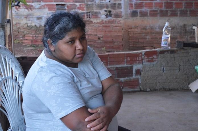 Moradora Lúcia, da comunidade da Pedreira