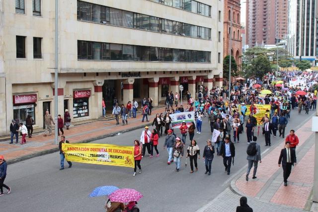 Greve dos professores na Colômbia