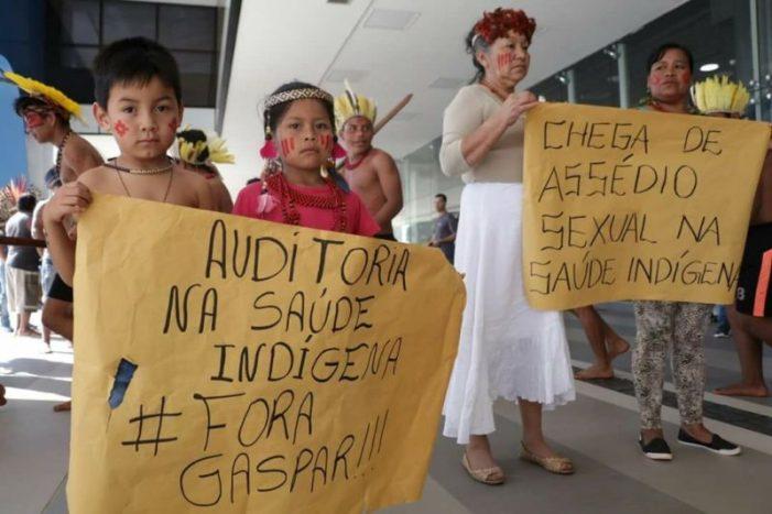 Kaingang protestam em Brasília contra assédios e má gestão na saúde indígena