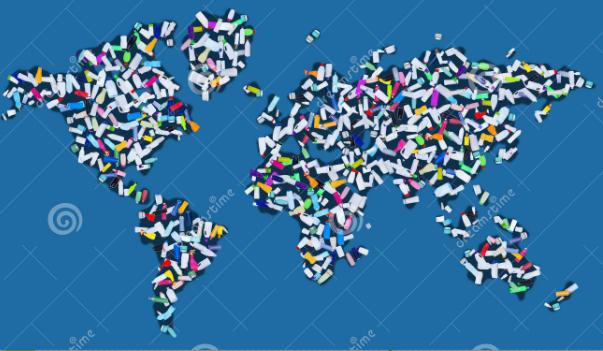 Um planeta literalmente coberto de plástico