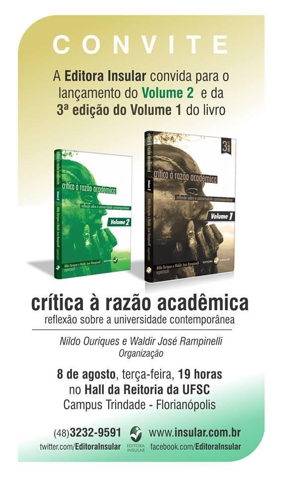 Crítica à razão acadêmica II