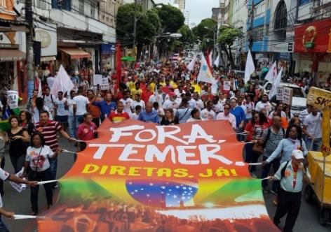 Movimentos pressionam deputados e mobilizam Brasil contra Temer
